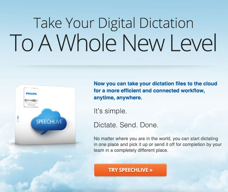 Philips Speechlive - Take your digital dictation to a whole new level