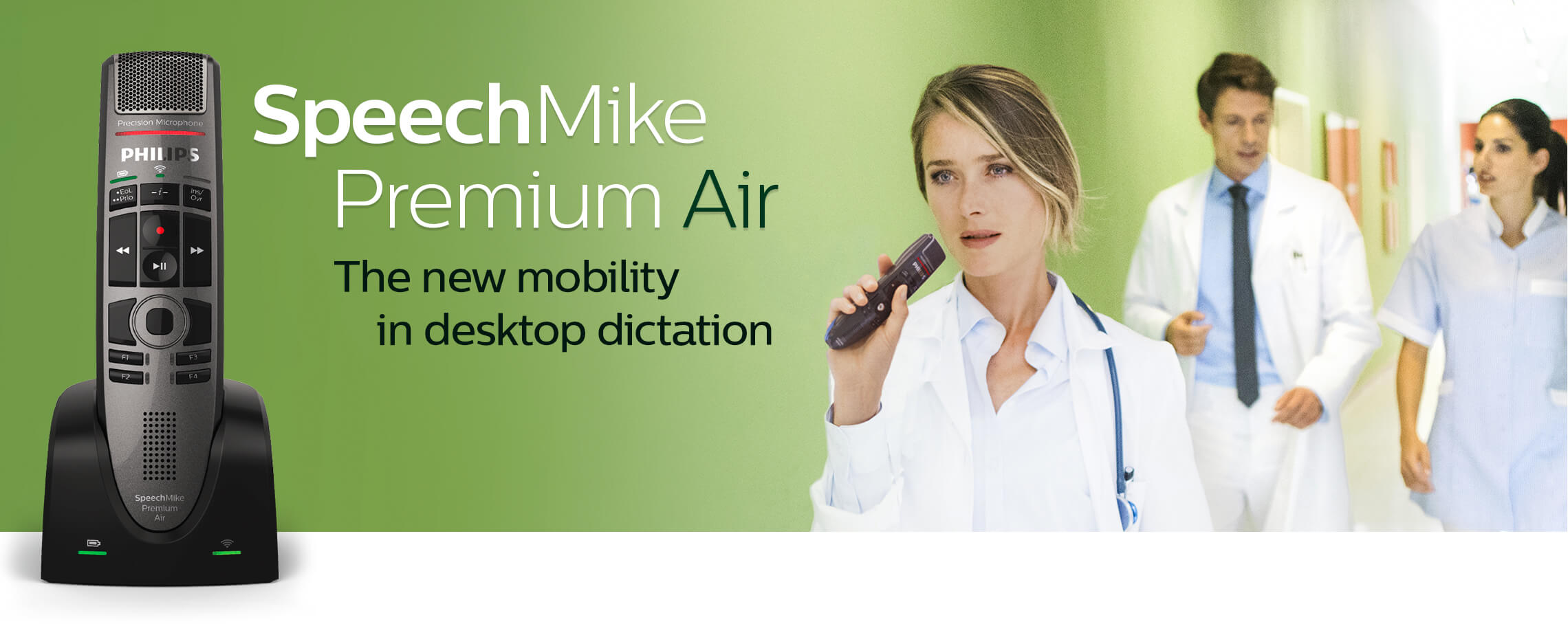 SpeechMike PremiumAir - The new mobility in desktop dictation